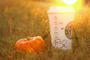 bingeing on pumkin spice lattes